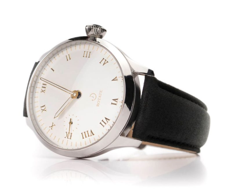 edison rotate watches premium leather mechanical watch