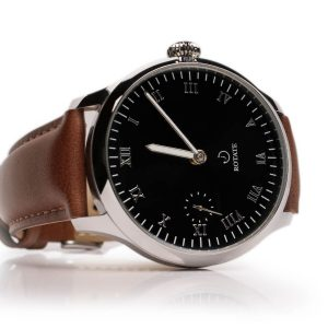 wright mechanical classic watch genuine leather rotate watches