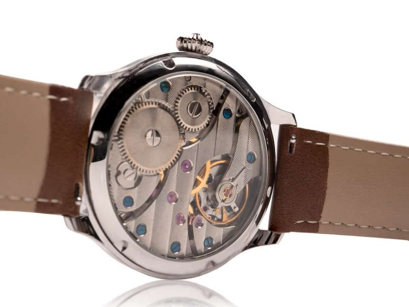wright watch back mechanical hand wound rotate watches