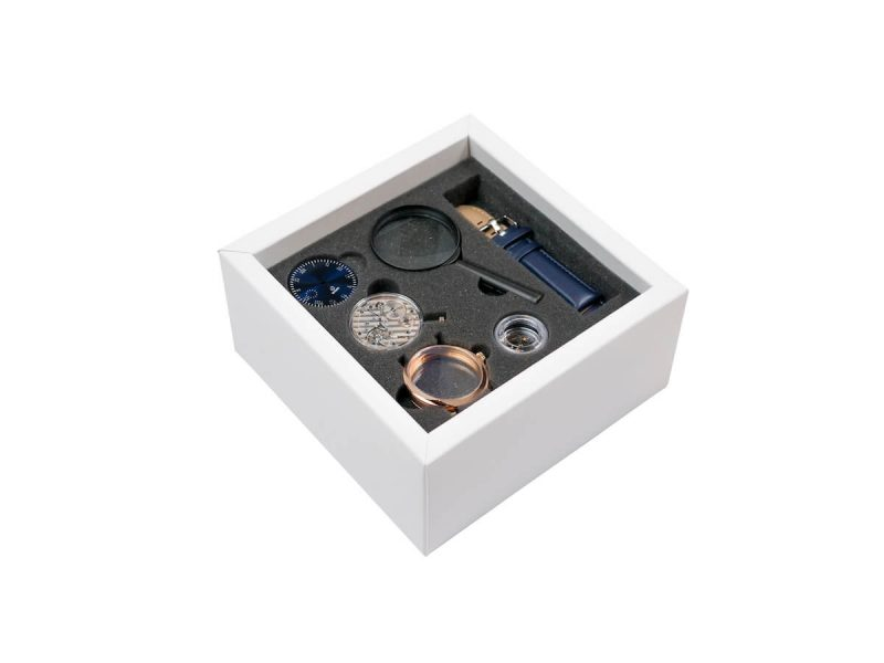 galileo all-in-one mechanical watch kit box top layer rotate watches