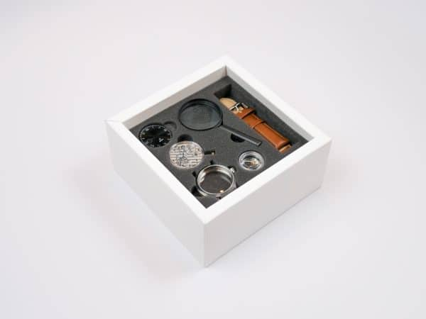 The Wright all-in-one watchmaking kit build a watch watch making kit