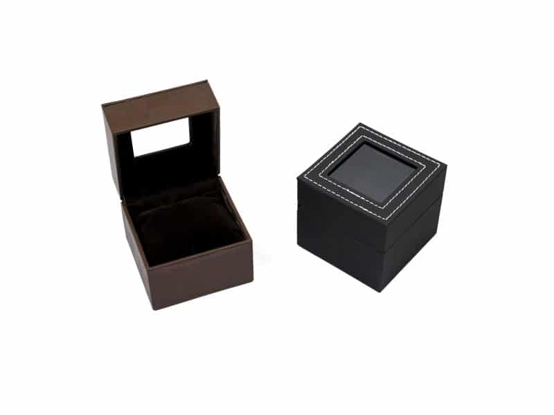 Rotate Watch display cases- brown open
