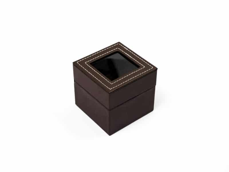 Rotate Watch display case- brown