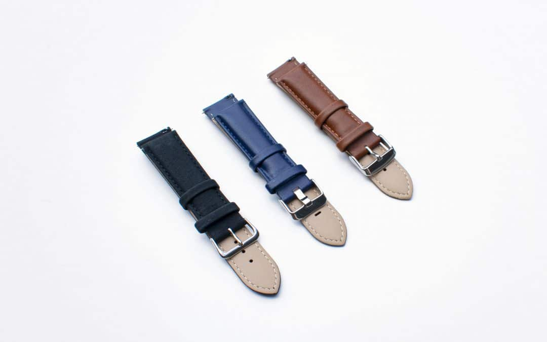 easy-release watch straps genuine leather rotate watches