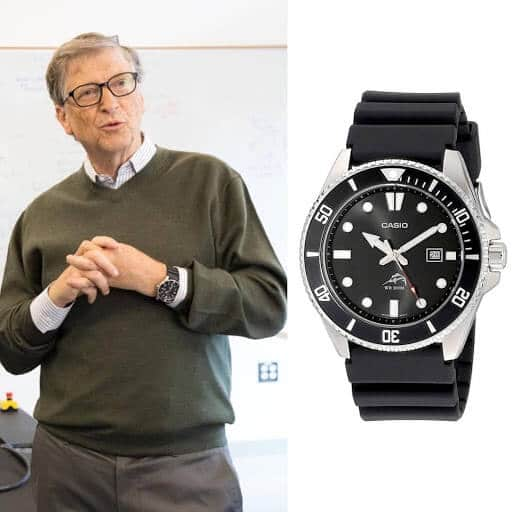 Bill Gates and his watch