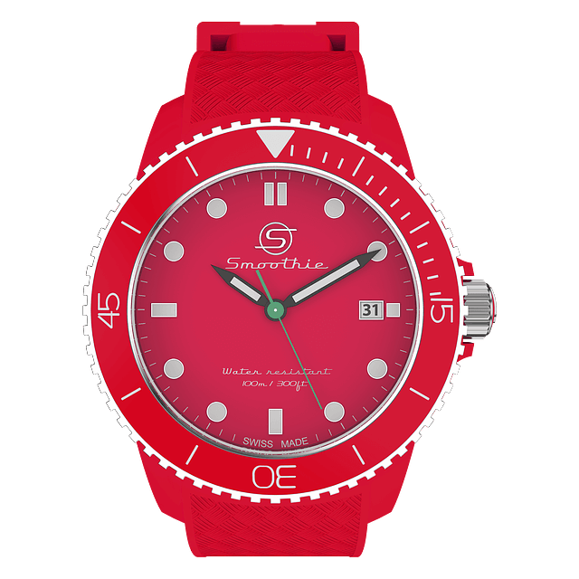 watch red analog