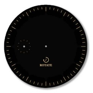 rotate watches dial black gold minimalist