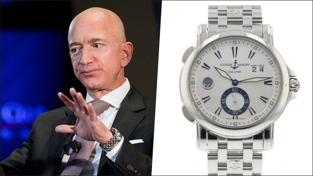 Jeff Bezos and his watch