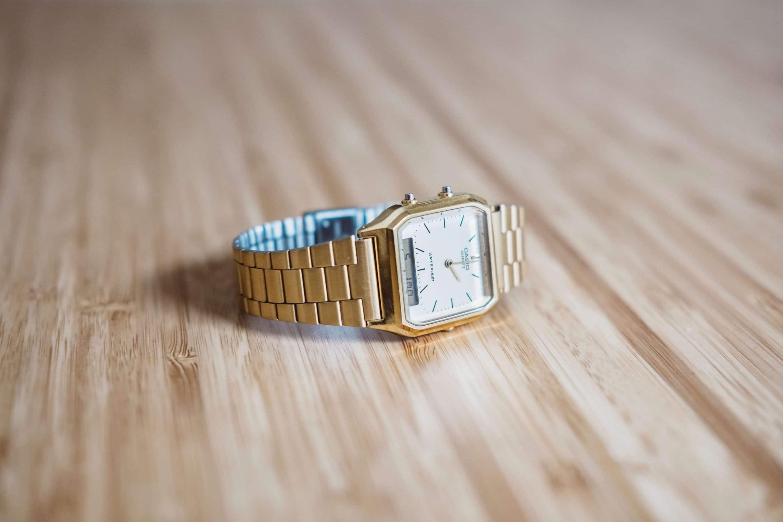 watch rectangular vintage gold style