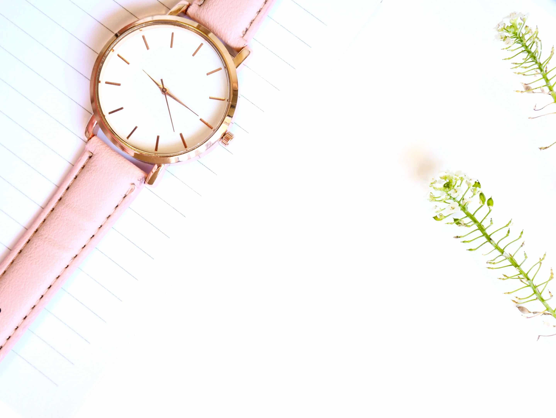 watch women's fashion analog rose pink gold