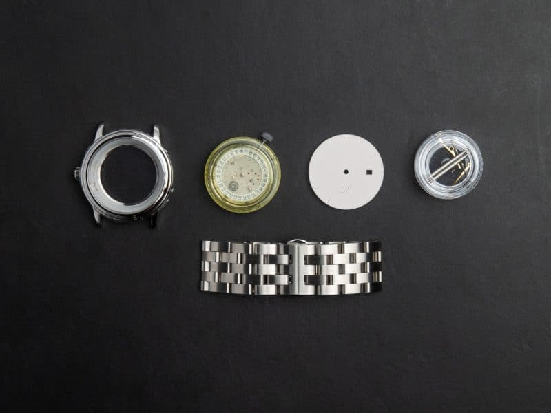 Rotate Watches all-in-one watchmaking kits Components